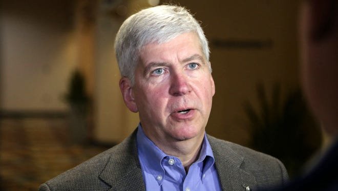 Governor Rick Snyder in Flint in March 2016.