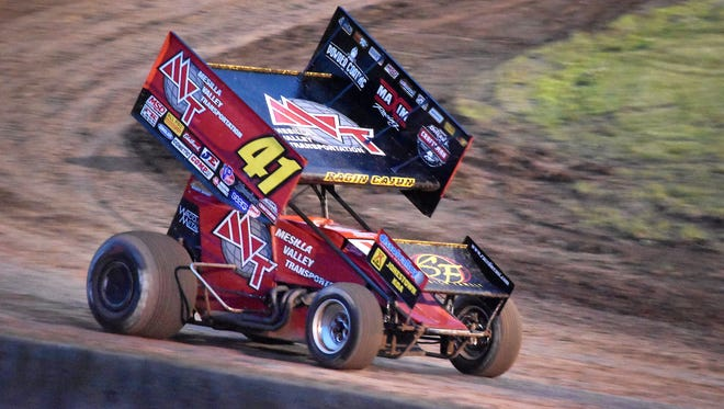 Jason Johnson competes at Beaver Dam Raceway with the World of Outlaws sprint-car series Saturday, June 23, 2018, in Beaver Dam, Wis.