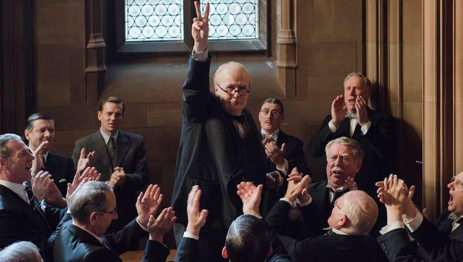 Gary Oldman stars as British statesman Winston Churchill in the World War II drama 'Darkest Hour.'