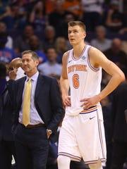 Jan 26, 2018; Phoenix, AZ, USA; New York Knicks forward