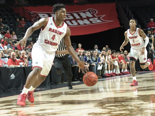 UL's Frank Bartley IV, showing driving to the basket