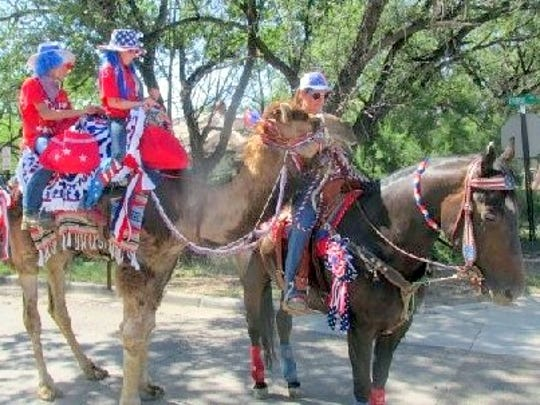 Even a camel or two can be found walking the streets of Capitan in last year's parade