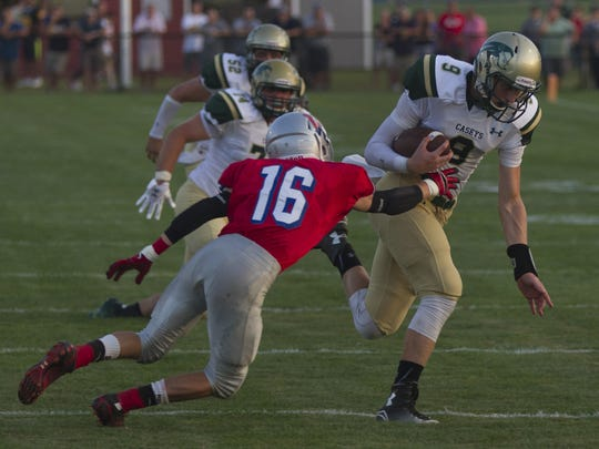 Red Bank Catholic senior quarterback Eddie Hahn will be sidelined for at least the remainder of the preseason with a torn meniscus