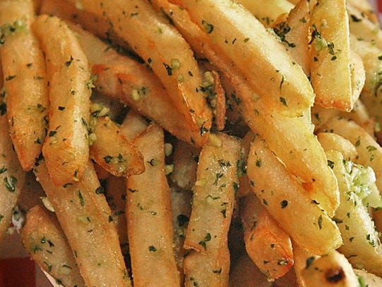 We can't wait until game day to get a taste of the new garlic fries.