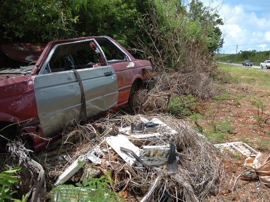 A junk car is shown in this file photo.