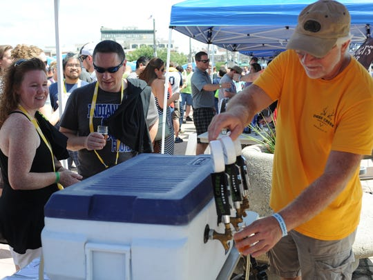 Beers Across The Wabash draws thousands to the John T. Myers Pedestrian Bridge.