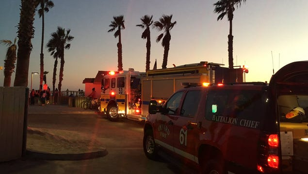 Two people were rescued from the ocean off Hueneme Beach on Saturday, officials said.