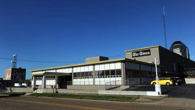 The (Shreveport) Times building at 222 Lake Street in Shreveport, Louisiana.
