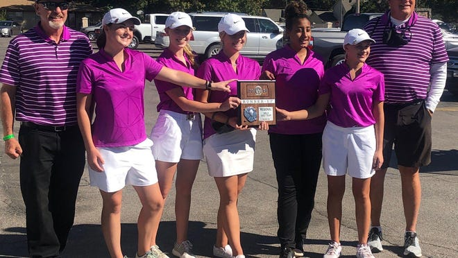 The Hays High girls golf team placed second in Monday's Class 5A regional at Wichita's Rolling Hills Country Club. The team earned a trip to state for the 15th consecutive season.