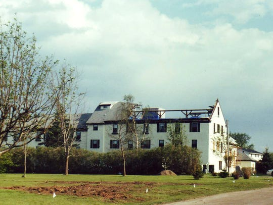 Then St. Mary's Convent, the building suffered major