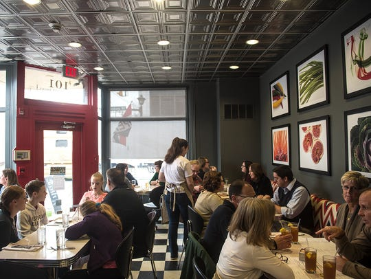 Food 101 attracts a packed crowd for lunch on Dec.