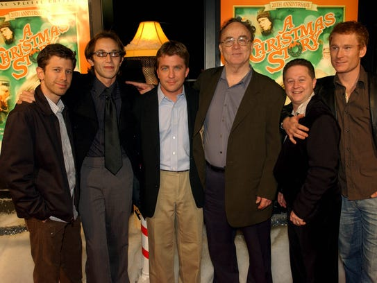 """The cast of """"A Christmas Story,"""" from left, R.D. Robb,"""