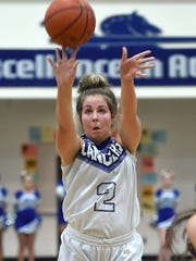 McQueen's Rhyann Kindrick shoots during a recent game against Spanish Springs.