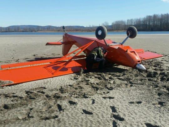 Douglas Pflugradt of Mattawa, Washington crashed his place near the Columbia River Tuesday afternoon.