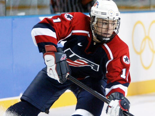 ccd40bcf5ec U.S. Olympic gold medalist AJ Mleczko to do color analysis for NHL game