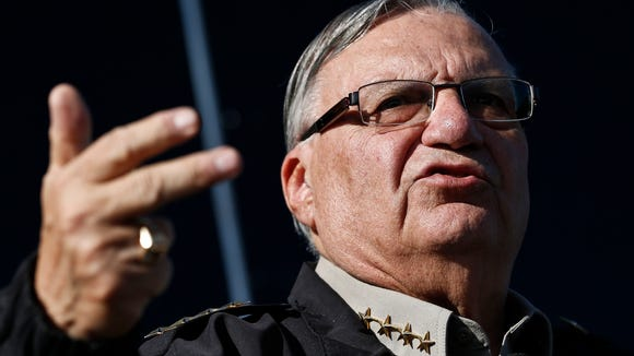 This Jan.9, 2013 file photo shows Maricopa County Sheriff