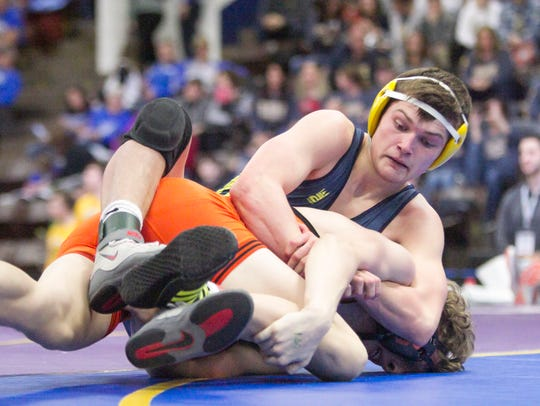 Hartland's Reece Potter won the 160-pound class match