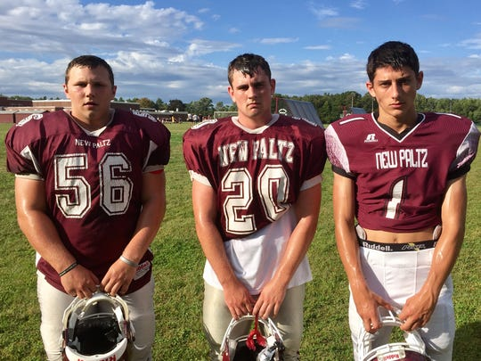 New Paltz High School football standouts, L to R: Kenny