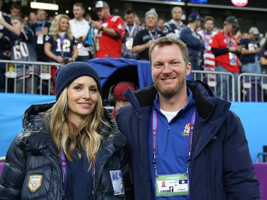 Dale Earnhardt, Jr. and his wife Amy attended Super