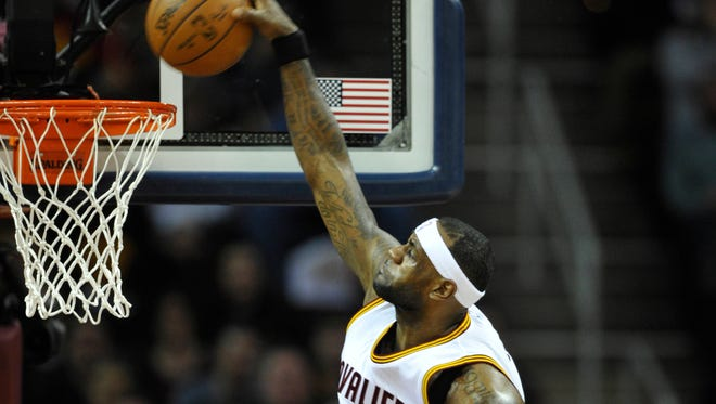 LeBron James and the Cavs moved into first place in the Central Division.