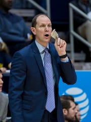 First-year Washington coach Mike Hopkins has the Huskies
