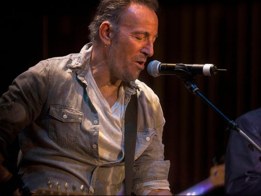 Bruce Springsteen at the 2017 APMFF Upstage jam at the Paramount Theatre in Asbury Park.