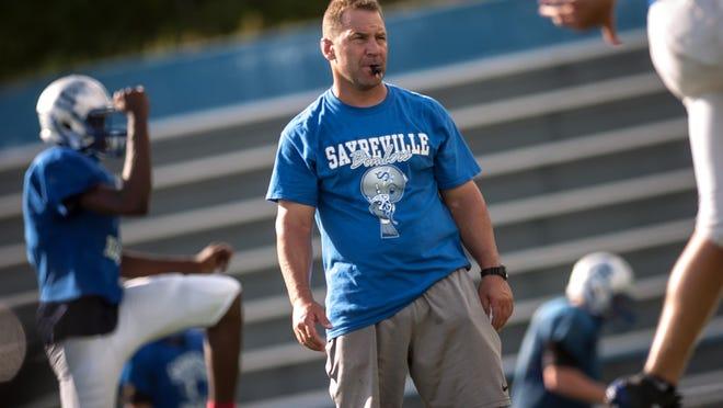 Sayreville head football coach Chris Beagan