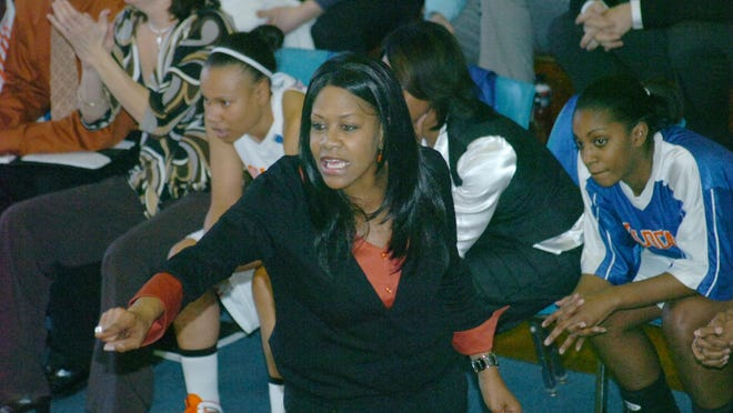 Louisiana College coach Janice Joseph-Richard, shown in action during an overtime victory in the championship game of the 2010 American Southwest Conference tournament, has been elected to posthumously enter the Louisiana Sports Hall of Fame.
