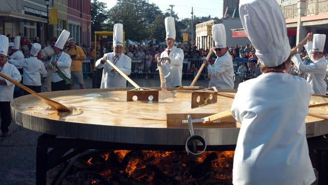 The Giant Omelette Celebration in Abbeville.
