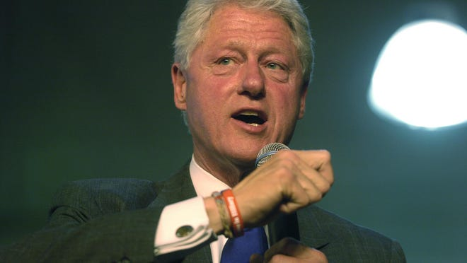 Bill Clinton speaks during a campaign stop for Hillary Clinton in 2008 in Sioux Falls.