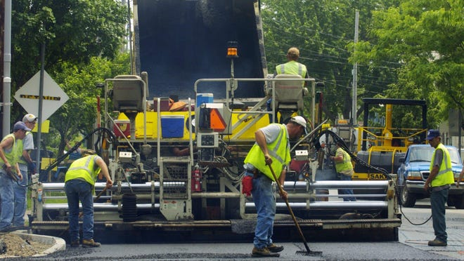 Paving projects this week range from town roads to Vermont's interstate highways.