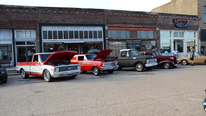 More than 75 vehicles participated in the inaugural Cars & Coffee event on Sept. 5 in downtown Van Alstyne.