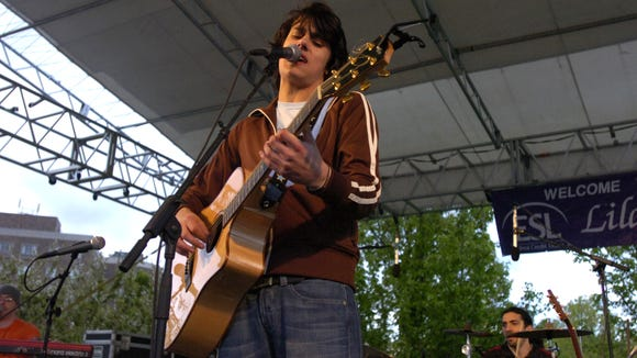 Teddy Geiger performs at the 2006 Lilac Festival