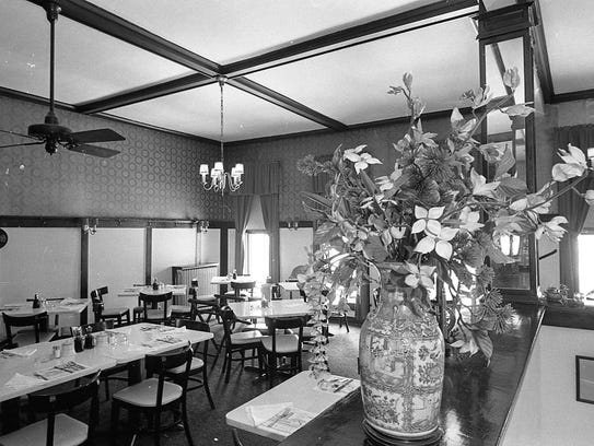 Dining room at Foo Ying Cafe, August 1967, on Washington