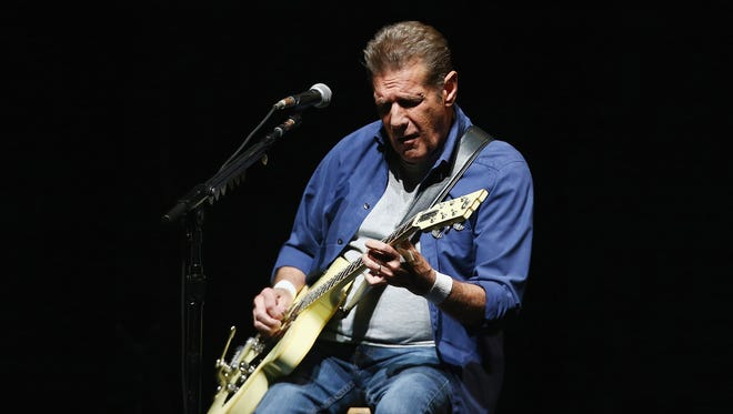 FILE - 18 JANUARY 2016: The Eagles Guitarist Glenn Frey, 67, has reportedly died. SYDNEY, AUSTRALIA - MARCH 02:  Glenn Frey of The Eagles performs live for fans at Qantas Credit Union Arena on March 2, 2015 in Sydney, Australia.  (Photo by Don Arnold/WireImage) ORG XMIT: 600552939 ORIG FILE ID: 464937372