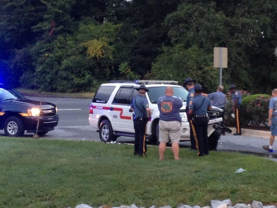 A fire company SUV was involved in a crash on Del. 141 at Creekwood Road.