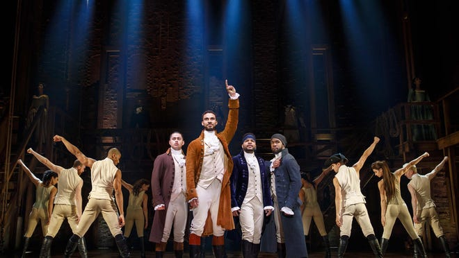 """The musical """"Hamilton"""" will be at the Kravis Center in West Palm Beach through Feb. 16."""
