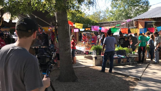 Cast and crew continue  production on the film Sub Rosa with scenes shot at the Chicken Farm Art Center, Nov. 1, 2017