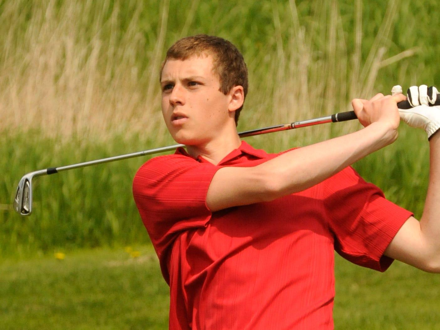 The Roncalli boys golf team return three members of last season's State-qualifying squad, including senior Logan Theisen.