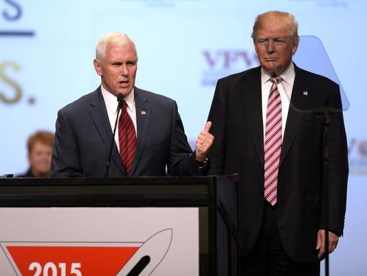 Donald Trump speaks to VFW