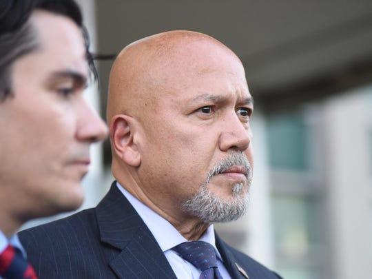 Paterson Mayor Joey Torres pleads guilty to corruption charges in Jersey City in September. Even after he was forced out of office, his political organization contributed money to candidates in the recent May elections.