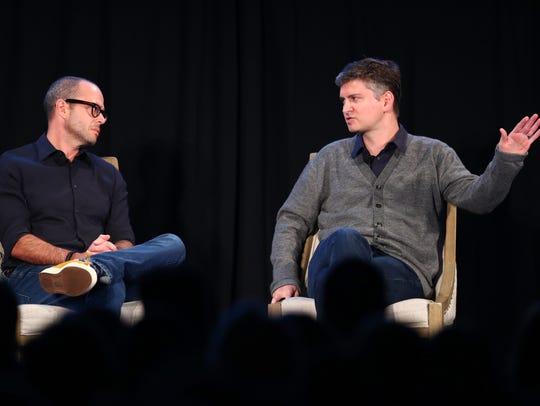 'The Good Place' producer Michael Schur, right, on