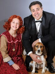 """KyLee Hennes, Andrew Varela and Shiloh play leading roles in Skylight Music Theatre's production of """"Annie."""""""