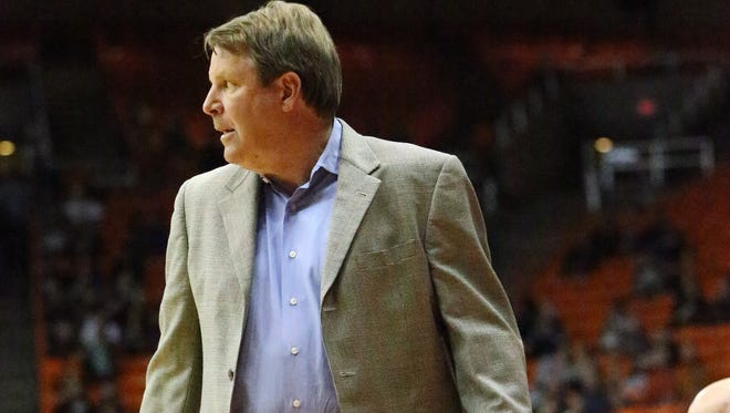 UTEP head coach Tim Floyd watches the action during a game against Louisiana Tech this past season.