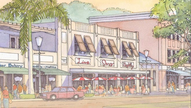 A 2006 rendering imagines what a redeveloped streetscape could look like on Dr. Martin Luther King Jr. Blvd. in Fort myers. The redevelopment plan is being updated and seeking public participation.