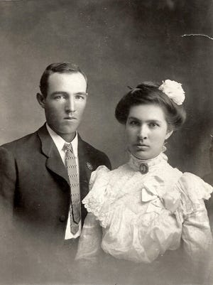 Edward and May Lee Queen were married on Jan. 1, 1902 in White Oaks, NM.