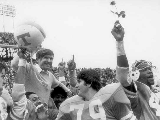Coach Johnny Majors finished strong a couple of times