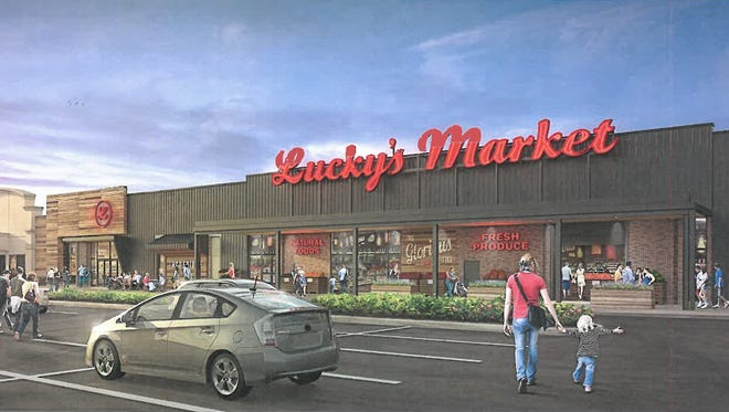 Rendering of Lucky's Market