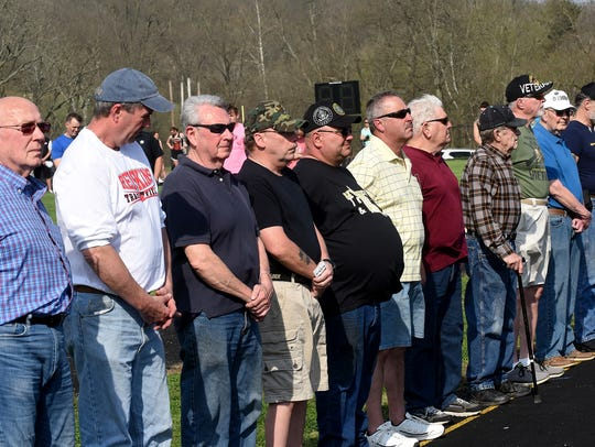 Local veterans were honored in a ceremony before Wednesday's