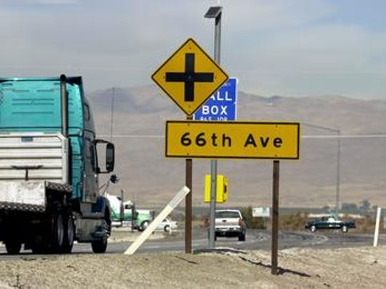 This Desert Sun file photo shows Highway 86 Expressway traffic approaching Avenue 66. The expressway is among the roads that may benefit from an assembly bill that's being discussed Monday.